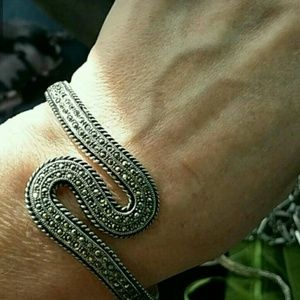 Jewelry - Solid sterling marcasite cuff